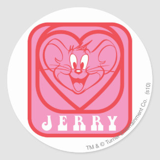 Jerry Pink Hearts Classic Round Sticker