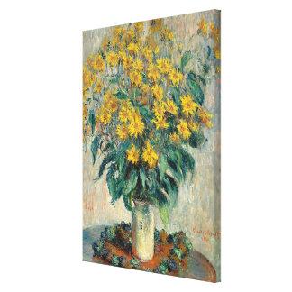Jerusalem Artichoke Flowers, 1880 (oil on canvas) Canvas Print