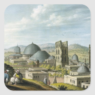 Jerusalem from the West, pub. by William Watts, 18 Square Sticker