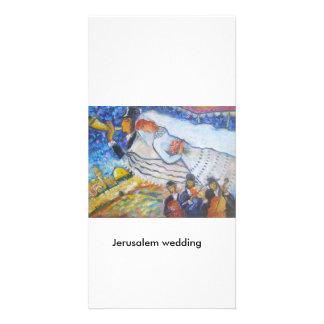Jerusalem Weddding Customized Photo Card