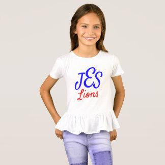 JES Lion's Girl's Ruffle Tee