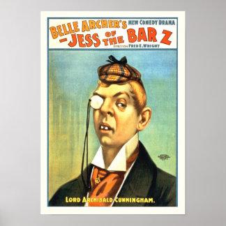 Jess of the Bar Z Vintage Poster