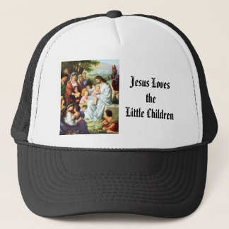Jesus_and_Children018, Jesus Lovesthe Little Ch... Trucker Hat
