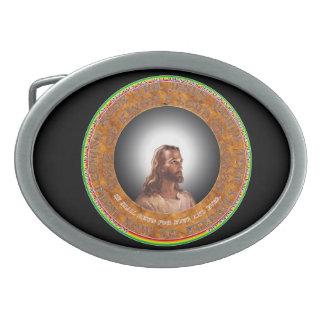 Jesus Belt Buckle. Oval Belt Buckle