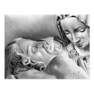 Jesus Christ Virgin Mary Postcard