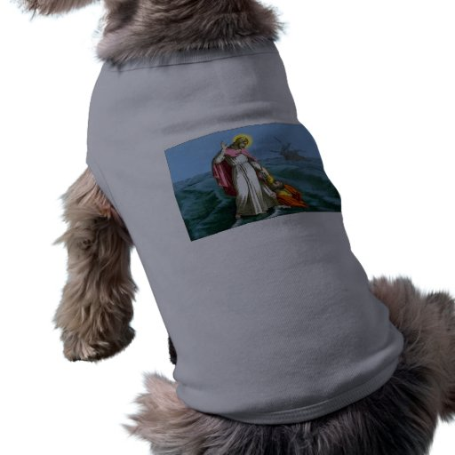 Jesus Christ Walks on Water Dog Clothing