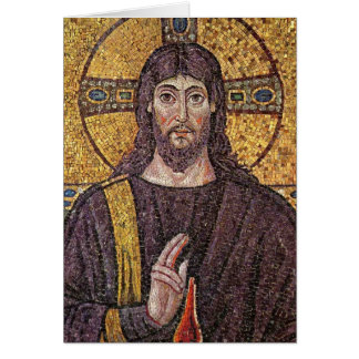 Jesus Christ with Holy Spirit Flame Mosaic Card