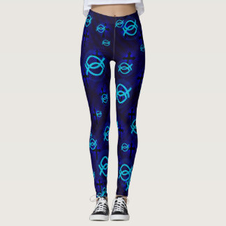 Jesus fish in bubbles leggings