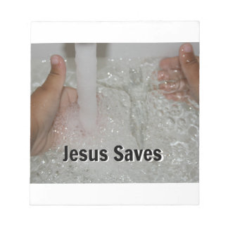 Jesus In Water With Two Thumbs Up Church Promotion Notepad