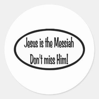 Jesus is Messiah Classic Round Sticker