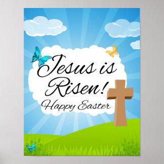 Jesus is Risen, Christian Easter Poster