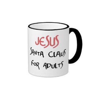 Jesus Is Santa For Adults Ringer Mug