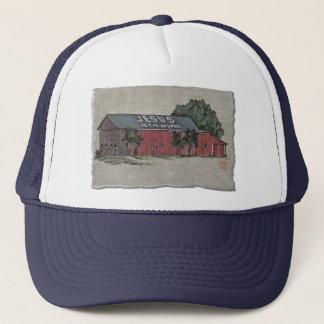 Jesus Is The Answer Barn Trucker Hat