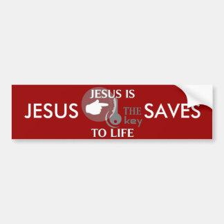 JESUS IS THE KEY TO LIFE CAR BUMPER STICKER