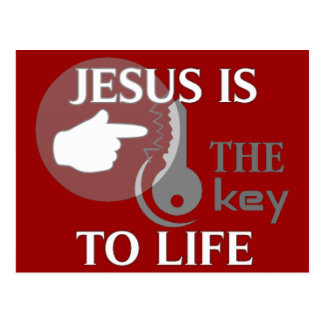 JESUS IS THE KEY TO LIFE POST CARD