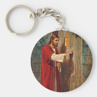 Jesus Knocks On The Door Key Ring