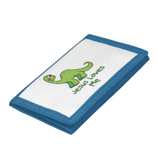 Jesus Loves Me Dinosaur Trifold Wallet