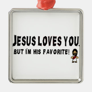 Jesus Loves You Christmas Ornament