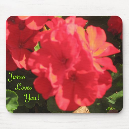 Jesus Loves You! Mouse Pad