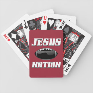 Jesus Nation football gear Bicycle Playing Cards