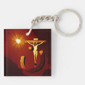 jesus of nazareth(double-sided) Keychain