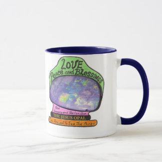 Jesus Opal Love Peace Blessings Mug