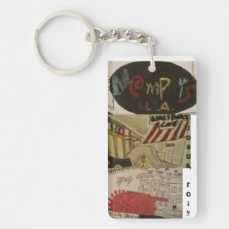 Jesus, rely/Memphis art keychain! Single-Sided Rectangular Acrylic Key Ring