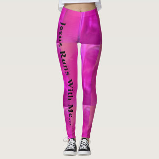 Jesus Runs With Me... Leggings