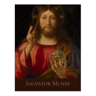Jesus Salvator mundi Andrea Previtali CC0986 Postcard