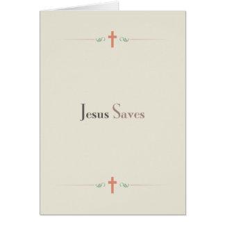 Jesus Saves Card