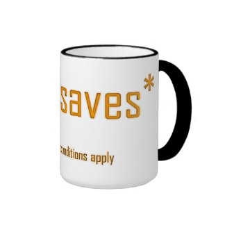 Jesus Saves Ringer Mug
