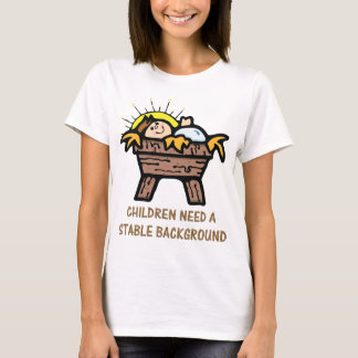 jesus stable background T-Shirt