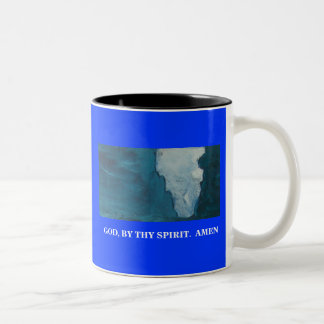 JESUS TOUCHED THEM Two-Tone MUG