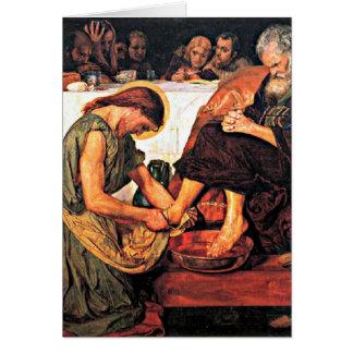 Jesus Washing Peter's Feet Card