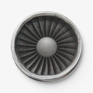 Jet Engine Turbine Fan Paper Plate