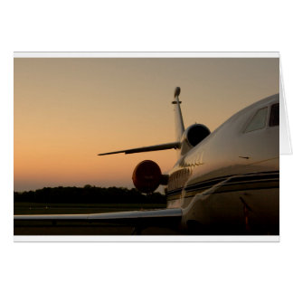 Jet Plane Wing Fly Airport Card