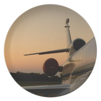 Jet Plane Wing Fly Airport Plate