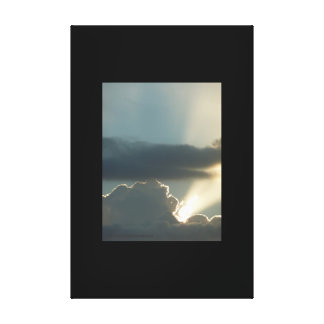 Jet Ray Sunset Stretched Canvas Print