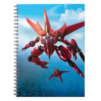 jet robot spiral notebook