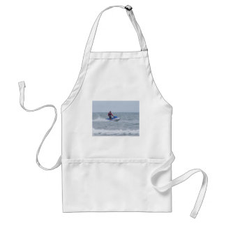 jet skiing at the beach standard apron