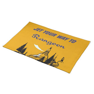 Jet Your Way to Rangoon Placemat