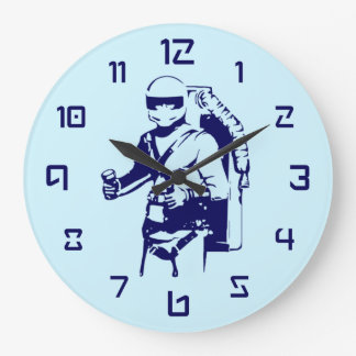Jetpack Pilot Large Clock