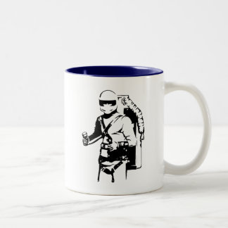 Jetpack pilot Two-Tone coffee mug