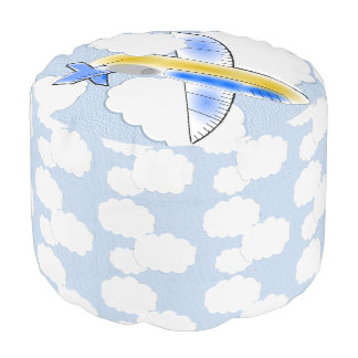 Jetplane in the Clouds Pouf
