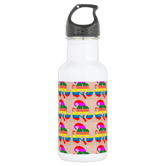 Jewel Colorful n White on Embossed Gold Foil 532 Ml Water Bottle