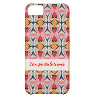 Jewel n Diamond Pattern with EDITABLE Text iPhone 5C Case