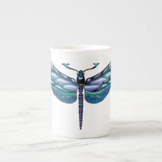 Jeweled Dragonfly, Bone China Mug