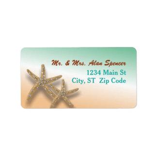 Jeweled Starfish Medium Address Labels