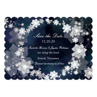 Jeweled Wreath Glam Winter Wedding Save the Date 13 Cm X 18 Cm Invitation Card