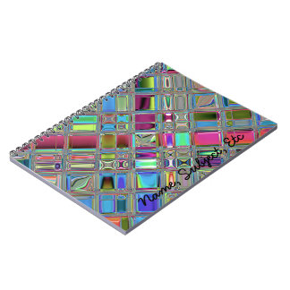 Jewelee Shiney Mosaic Art Spiral Note Book